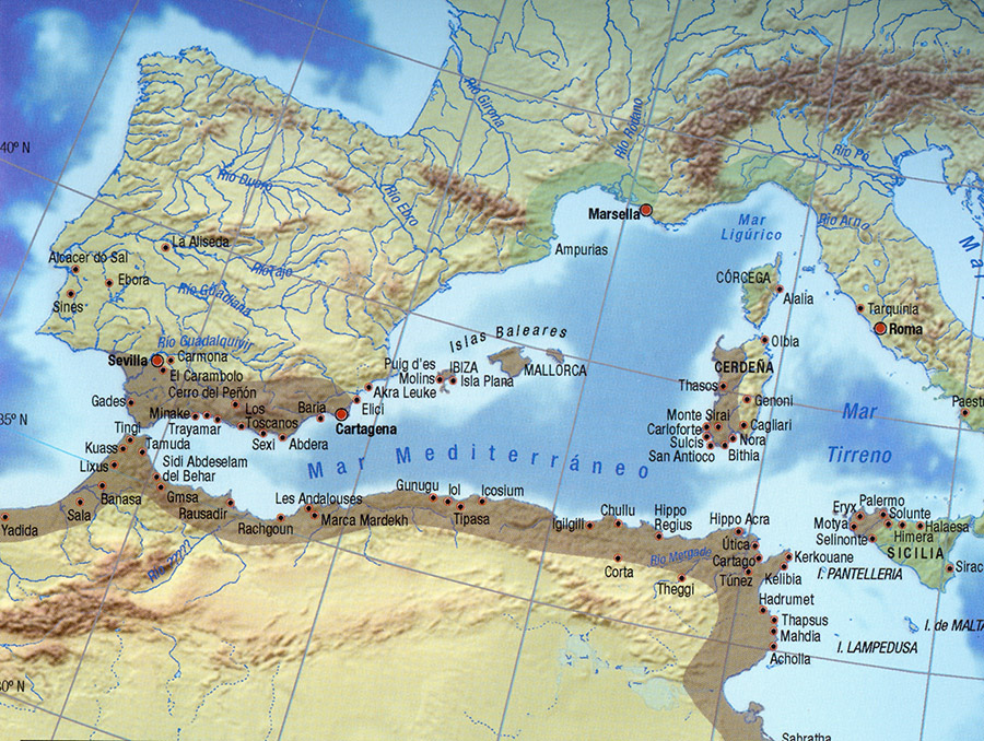 Ancient settlements west of the Mediterranean